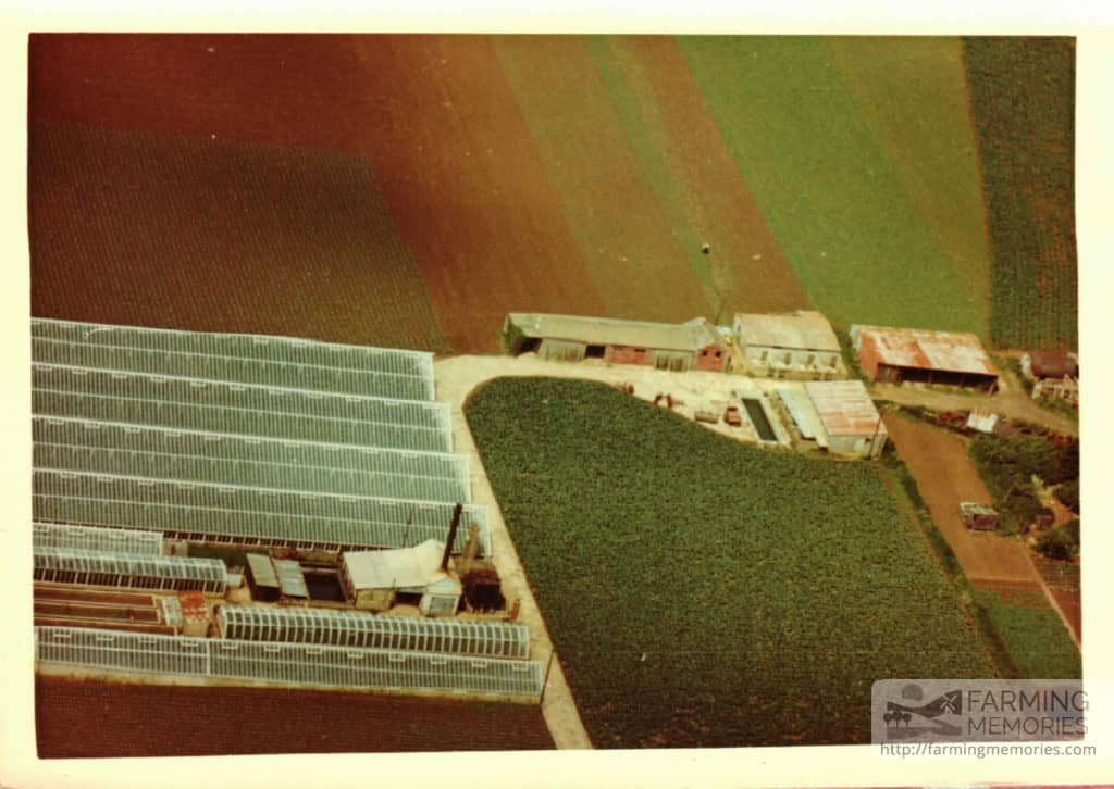 Andrew Groves -Langbridge Farm aerial view 1959