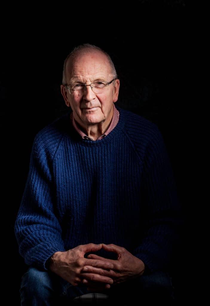 David Cooper portrait by Julian Winslow