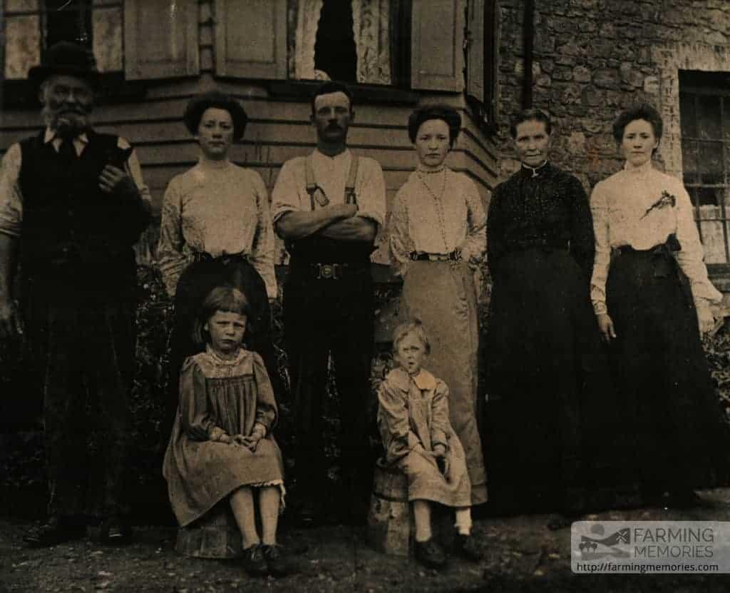 Family photograph at Holgate Farm