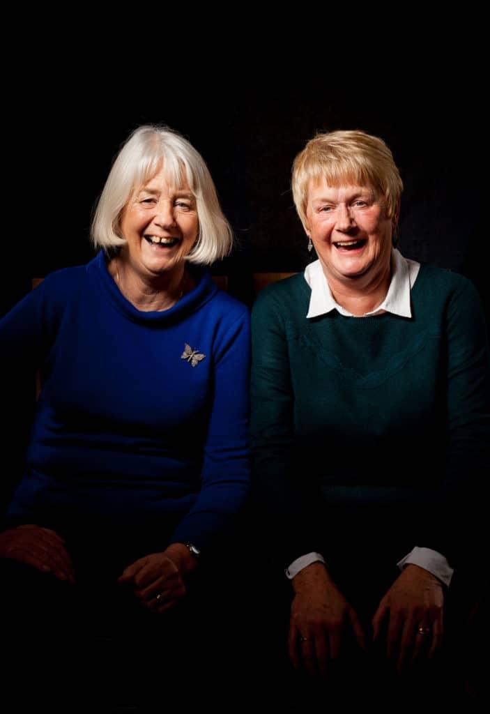 Sisters Dianne Whitelock and Sandra Piggot portrait by Julian Winslow