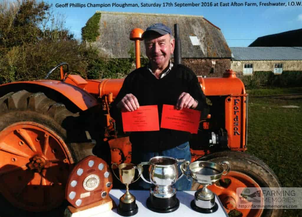 Geoff Phillips - Champion Ploughman - tractor