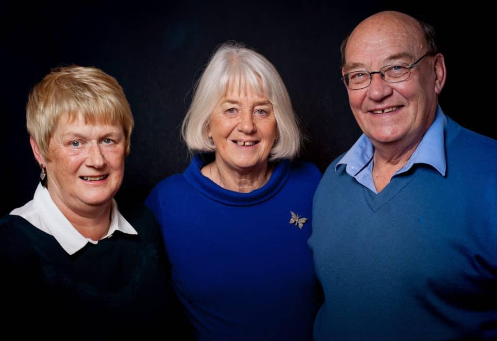 Sandra Piggot with Dianne and Paul Whitelock portrait by Julian Winslow