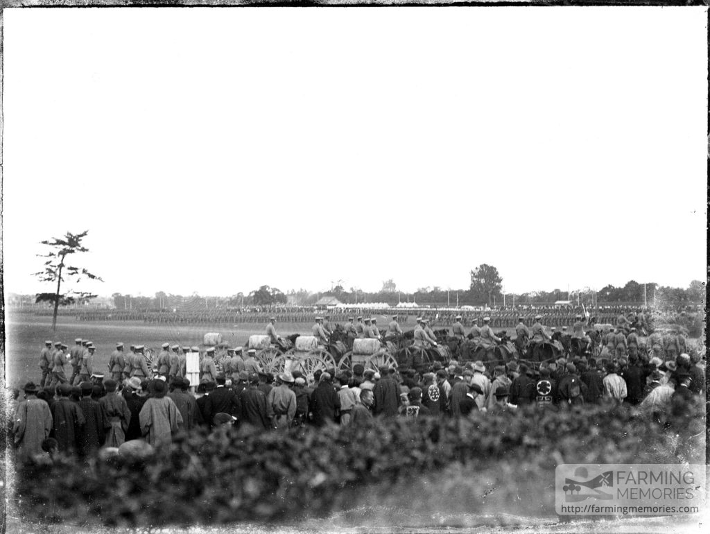 Glass Negative of Troops assembling