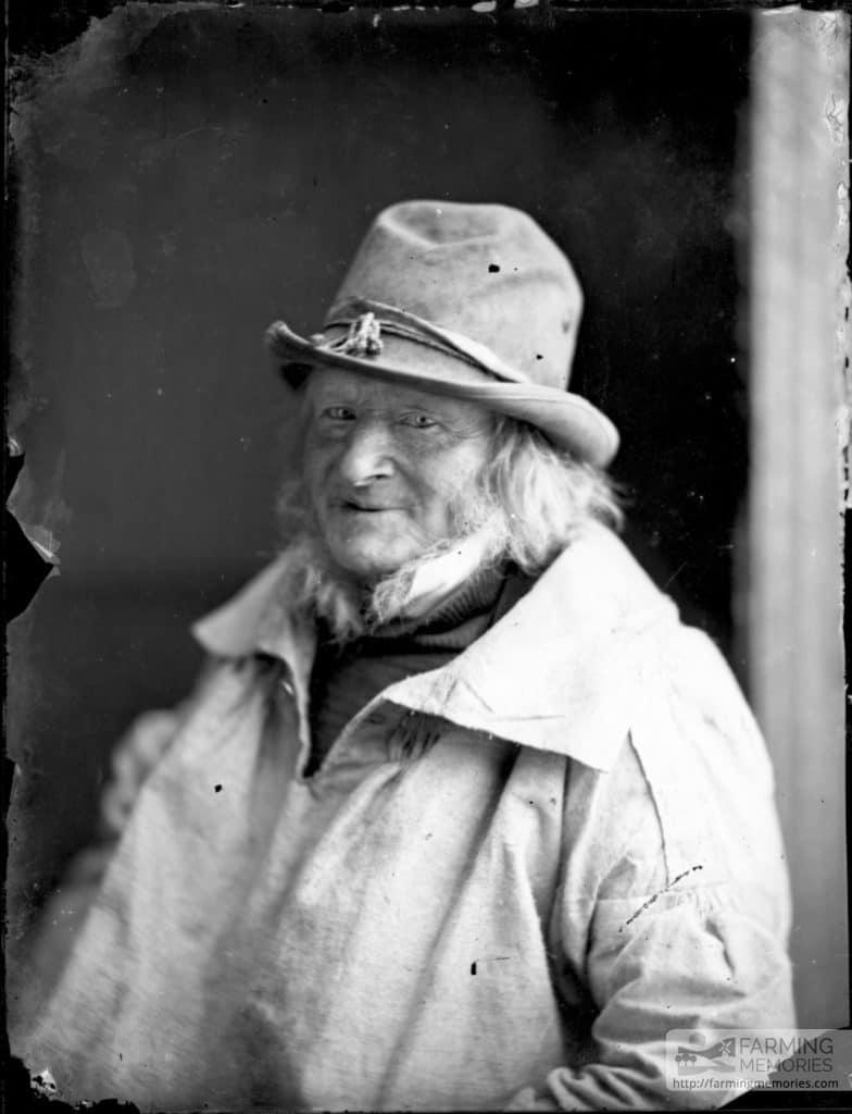 Glass negative of shepherd George Tullege (1793-1877)
