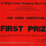 Peggy Jolliffe's Ploughing Match First Prize Certificate