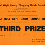 Peggy Jolliffe's Ploughing Match Third Prize Certificate