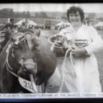 Peggy Jolliffe with Sunbeam at the County Show