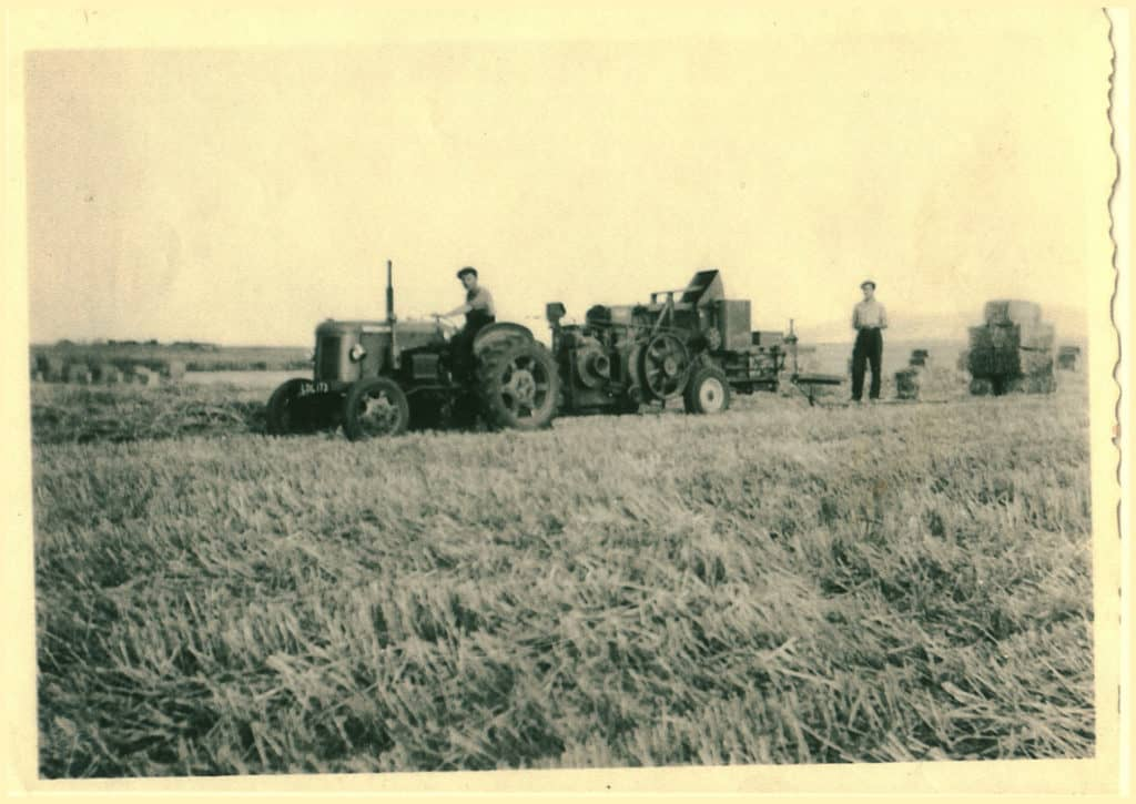 Tractor and Baler in the 1960s
