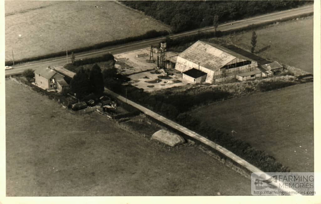 Aerial view of Park Green Farm in the 1940s