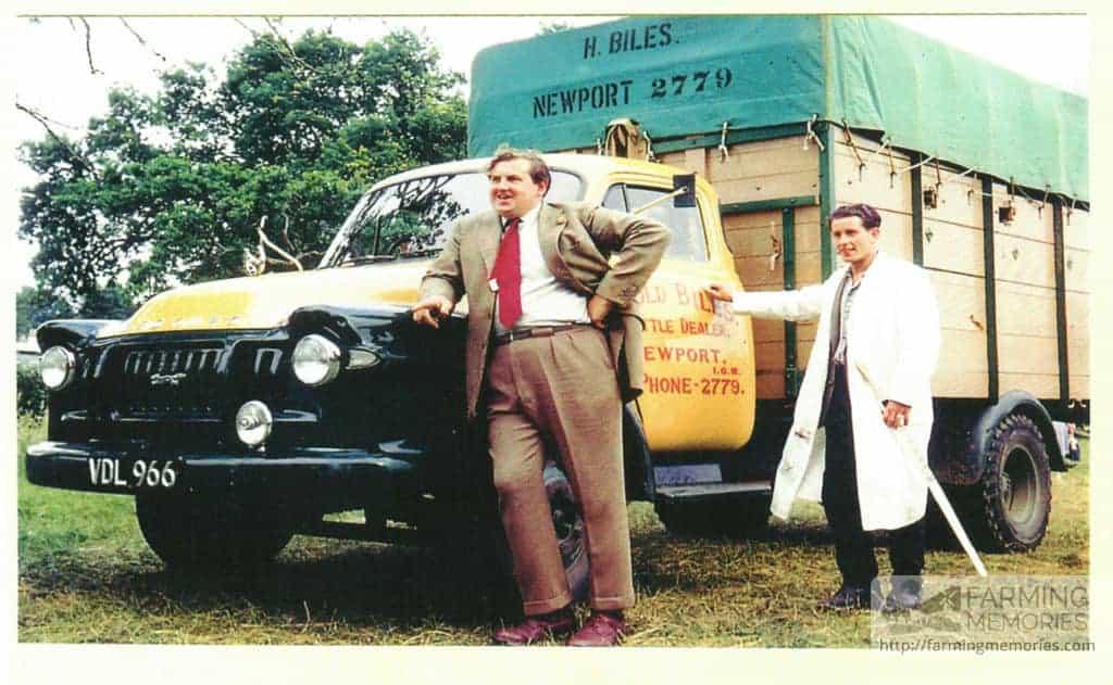 H Biles Truck - Reg VDL966, David Biles in front