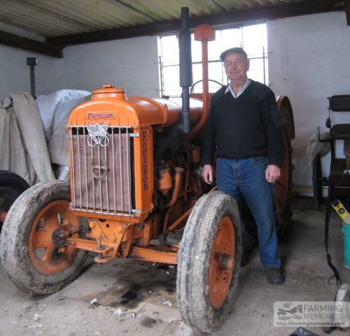 Geoff Phillips with Fordson Major Diesel tractor