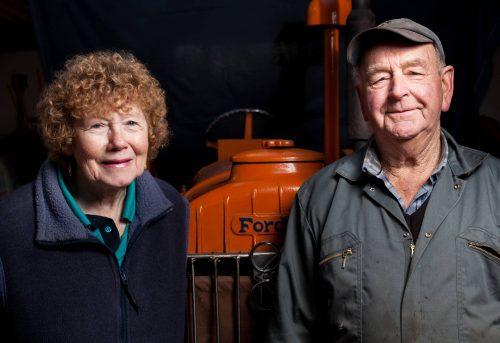 Geoff and Barbara Phillips portrait by Julian Winslow